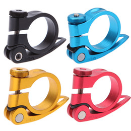 Wholesale Wholesale Fixed Gear - Bicycle Mountain Road MTB Bike 31.8mm Quick Release Seat Post Clamp Tube Clip Aluminium Alloy Y0301