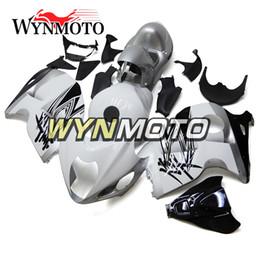 Wholesale hayabusa bodies - Full Fairing Kits For Suzuki GSX R1300 GSXR1300 Hayabusa 2008 - 2015 09 10 11 12 13 14 Motorbike Fairings Body Kits White Silver Hulls Cover