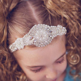 Wholesale Diamond Head Bands - Kid Hair Bands Head Bands Infants Baby Hair Accessories Diamond Headband 2015 Headbands For Girls Childrens Accessories Baby Headbands C7158