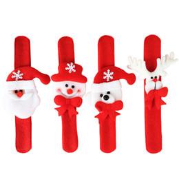 Nueva Llegada de Navidad Lindo Animal Muñeco de nieve Navidad Perro Santa Pulsera Slap Pulsera Decoración Regalo de Los Niños Joyería Del Partido Decoración Círculo de La Mano desde fabricantes