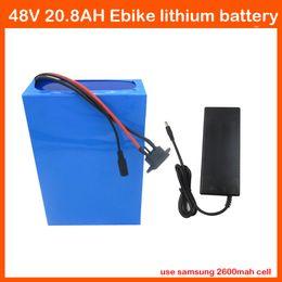 2019 54,6v 2a зарядное устройство Перезаряжаемые 1000W 48V 20.8 AH батарея лития 48V 20ah Ebike samsung 2600mAh пользы батареи лития с 54.6 V заряжателем 2A освобождает гонорар таможен скидка 54,6v 2a зарядное устройство