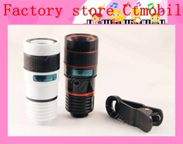 Wholesale Factory Optical - universal 8X zoom telescope camera optical lens with flexible and V clip for Samsung iPhone iPad Nokia HTC factory outlet