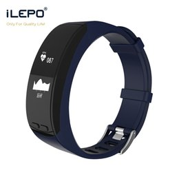 Wholesale Heart Thermometer - Smart wristband P5 with built in GPS heart rate thermometer barometer altitude monitoring sport bracelet For IOS Android iPhone Smart Band