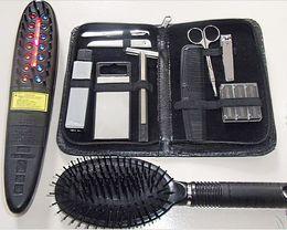 Wholesale Electronic Makeup - 2015 new arrival Germinal Comb Power Grow Hair Grow Comb Laser Hair Comb Hair Care Styling Makeup Comb Electronic Massage Comb