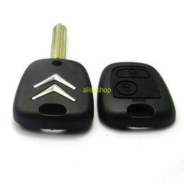 Wholesale Key Fob Remote Cover - 2 Buttons Uncut Blade Remote Car Key Case Shell Fob Module Cover for Citroen C1 C2 C3 Saxo Xsara Picasso Berlingo