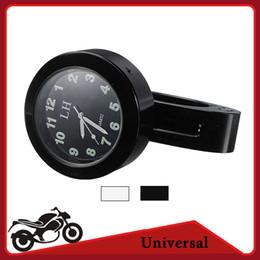 Wholesale Handlebars Clock - Universal Motorcycle Bike 7 8'' 1'' Handlebar Clock Dial Mount For Harley Davidson Honda Kawasaki Yamaha Suzuki Chopper Cruiser order<$18no