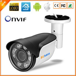 Wholesale Ip Camera Outdoor Wdr - Full HD Digital WDR 3X Auto Zoom 2.8mm-12mm Motorized Lens IP Camera 1080P IR Bullet Outdoor Security Camera IP 8PCS ARRAY LED