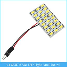 Wholesale Led Reading Panel - 24 SMD 5730 LED Light Panel Board 12V Car Dome Interior Map Reading Lamp Light C143
