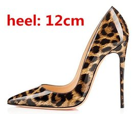 Wholesale Leopard Red Heels - Top Quality Sexy Women Pumps Leopard Shoes Women IRed Bottom High Heels Fashion Pointed Toe Womens Shoes With Heels Wedding Shoes 33-44