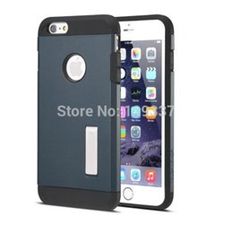 """Wholesale Iphone Linear Case - Wholesale-Tough Armor Case for iPhone 6 4.7"""" 6 plus 5.5inch Hard Stand Cover Bumblebee Linear EX TPU+PC Neo Hybrid 1pcs lot"""