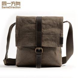 Wholesale Ipad Small - TSD 2016 fashion bags Durable Multifunction Canvas Shoulder Bag Business Messenger Bag Ipad Bag Tote Bag Satchel Bag for Men khaki