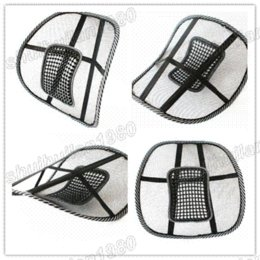 Wholesale Office Chair Neck Pillow - Free Shipping Car Seat Office Chair Massage Back Lumbar Support Mesh Ventilate Cushion Pad M47417 cushion stuffing