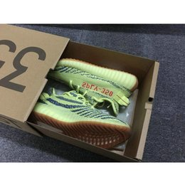 Wholesale Wrestling Shoes Mens Size 13 - With Box Kanye West Boost SPLY V2 350 Semi Frozen Yellow Beluga 2.0 Zebra Cream White Copper Size 13 V2 350 Running Shoes Mens Womens Sale