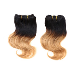 Wholesale Bodywave Hair Weave - 2017 New Short Size Brazilian Virgin Hair Weave 2pcs lot 100g 50g pc 8Inch Bodywave Ombre Human Hair Extension