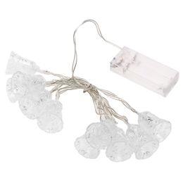 Wholesale Red Filigree - Wholesale- 10LED String Light 1.2M 3V Outdoor White  Warm White RGB Filigree Metal Tiny Bell Fairy Lights Christmas Festival Wedding Decora