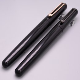 Wholesale Magnetic Black Ball - Luxury MT Pen For Black Resin And Metal Magnetic Cap Roller Ball Pen For M Series School Office Supplies Writing Smooth Brand Ball Pens Gift