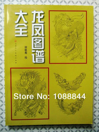 Wholesale Tattoo Picture Books - Wholesale-Free shpping Chinese Traditional Dragon Phoenix Chinese Tattoo Flash for a stencils tattoo Reference book picture designs
