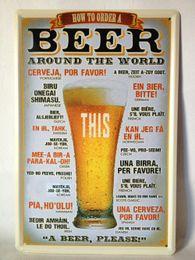 2019 estaño de pvc Cerveza alrededor del mundo Cartel de chapa Bar pub hogar Decoración de pared Retro Art Art Poster rebajas estaño de pvc