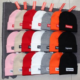 Wholesale Cowboy Hats For Men Beach - Wholesale-New 2018 Autumn Winter Unisex wool hats fashion casual brand skullies & Beanies For Men and women Striped design Free Shipping