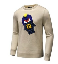 Wholesale Cartoon Sweaters Men - Hot sale New burst paragraph high-quality cashmere Cartoon image sweater Men's casual and personality sweaters M-XXXL