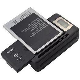 Deutschland Mobiles Universal-Ladegerät LCD-Anzeigebildschirm für Mobiltelefone mit 1 USB-Anschluss EU US AU UK-Stecker Versorgung