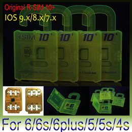 Wholesale Iphone 4s Unlocking Sim - Original RSIM 10+ rsim 10 + R-sim 10+ thin card unlock card for iphone 6s plus 6 5s 5 4s IOS7.X ios9.X AT&T T-mobile Sprint WCDMA GSM CDMA
