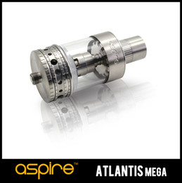 2017 aspire atlantis mega Authentic Aspire Atlantis MEGA Réservoir avec 1.0oHm0.3ohm Coil Fil coton biologique Airflow réglable Système de refroidissement 5ML Mega atomiseur Ecig aspire atlantis mega à vendre