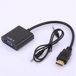 Wholesale Hdmi Cord Converter - HOT! HDMI Male To VGA Female Video Cable Cord Converter Adapter 1080P For PC Black 19023