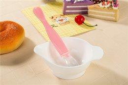 Wholesale Ceramic Baby Spoons - Baby Bowl Spoon Baby transparent silica gel spoon newborn soft head children bowl tableware manufacturer wholesale