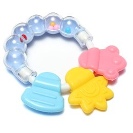 Wholesale Baby Toys Products - 1Pcs Lovely Baby Bell Toy Product Cute Teeth Training Molar Safety Teether For Kids Chewing Practicing