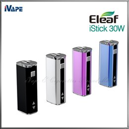 Wholesale Ego Battery Screen - iSmoka Eleaf iStick 30W 2200mah 510 eGo Battery Simple Pack VW Box Mods Variable Wattage E E Cigarettes Battery With OLED Screen