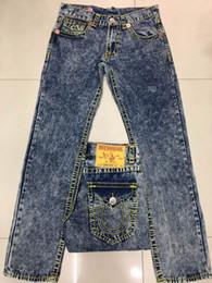 Wholesale Rock Jeans - 2018 Free Shipping True High quality new Men's Robin Rock Revival Jeans Crystal Studs Denim Pants Designer Trousers Men's size 30-40