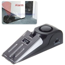 Wholesale Wireless Alarm Systems China - 2016 China Suppliers Door Stop Alarm Wireless Home Travel Security System Portable Safety Wedge Alert For Sale