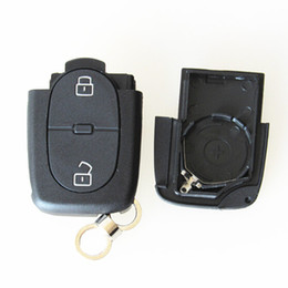 Wholesale Audi Key Remote Button - replacement Aud 2 buttons remote key shell Fob key cover fit for big 2032 battery 20pcs lot