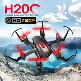 Wholesale Mini Hexacopter - JJRC H20C Mini Drone with 2.0MP Camera H20 Upgrade RTF 2.4G 4CH 6 Axis Gyro RC Hexacopter Headless Auto-Return F16759 60