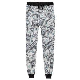 Бумажные доллары онлайн-w1215 мужчины/женщины 3d брюки повседневная мода доллары печатных бумажные деньги девушка длинные брюки мультфильм размер s-xl новый 2015