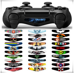 Wholesale Custom Ps4 - New Brand and High Quality PVC Decal Skin Custom For Playstation 4 LED Light Bar Decal Sticker for PS4 Dualshock Controller
