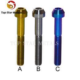 Wholesale Titanium Screw Bicycle - M6 x 40mm Titanium Six-party Flange Concave Screws Bolts 1 PCS for Bicycle Heads