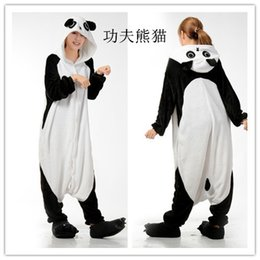 Wholesale Ladies Pajamas Xl - Mens Ladies Cartoon Panda Adult Animal Onesies Onsie Kigurumi Pyjamas Pajamas Jumpsuits C366 S M L XL XL