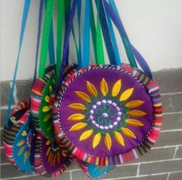Wholesale Long Ladies Small Shoulder Bag - New Florals embroidery Women Crossbody Shoulder Small Messenger Bag Purses