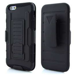 Wholesale Hybrid Combo - For iphone 6s 6 Plus 5 SE 7 Future Armor Impact Hybrid Hard Case Cover + Belt Clip Holster Kickstand Combo For iphone6 5S