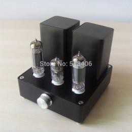 Wholesale Integrated Tube Amplifiers - MINI APPJ EL84+12AX7B Tube Integrated Audio Amp (original miniwatt N3) 1PC audio tube amp audio op amp