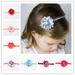 Wholesale Thin Diamond Belts - Popular Thin Belt Headwrap Mini Multi Angles Flowers Hair Band With Diamond Child Headband For Photography Props 0 9ml B