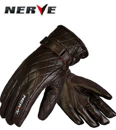 Wholesale Brown Leather Motorcycle Gloves - 2016 New Authentic German NERVE KQ-1031 leisure waterproof leather motorcycle gloves winter warm Motorbike Knight gloves size M L XL