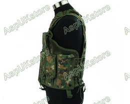 Wholesale Tactical Vest Woodland - Fall-Airsoft Tactical Combat Hunting Vest w  Holster - Digi Woodland free shipping