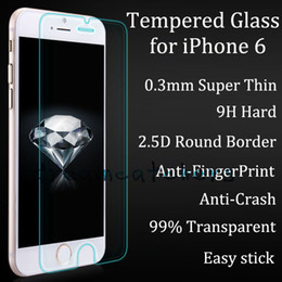 Argentina Nuevo 0.3mm Ultra Thin Glass Screen Protector Redondo Borde Premium Película de Vidrio Templado para iphone 6 4.7