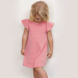 Wholesale Korean Summer Clothes Fashion Wholesale - 2016 Kids Girls Cotton Knitting Dresses Baby Girl Summer Princess Fashion Dress Children's Clothing Babies Korean Style Clothes