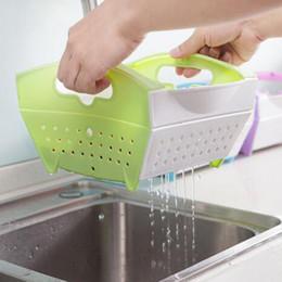Wholesale Dish Rack Layers - 2016 new Plastic Kitchen Vegetable Fruit Washing Draining Basket Organizer with Double Layer Dish Cup Rack Kitchen Basket Storage