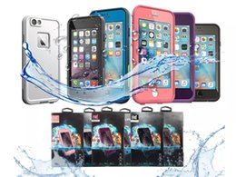 Wholesale Snow Proof - AAA++ quality Waterproof Phone Case Shockproof Snowproof Dirt Snow Proof Cases For Iphone 6 4.7 Cell Phone Case Retail Package