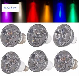 Wholesale E27 Led Blue Spotlight - High Quality Non-Dimmable LED Spotlight GU10 B22 E27 E14 E12 B15 GU5.3 Down Lights 6W Bulbs DC 12V 8 Colorful Led Lampada 1PCS